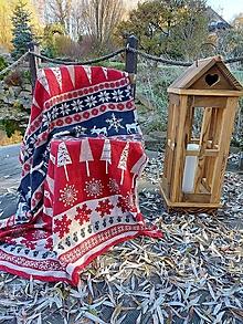 Úžitkový textil - Ľanová vianočná deka - 12732553_