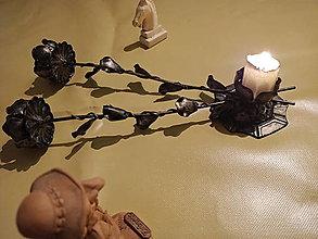 Svietidlá a sviečky - Ruže nás - NAVŽDY - 12736048_