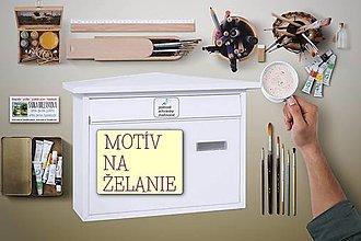 Nádoby - MAĽOVANÁ POŠTOVÁ SCHRÁNKA - 12735995_
