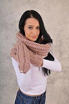 Šály - Luxury set-100% vlna,čiapka a rukavice - 12734537_