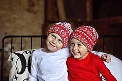 Detské čiapky - Detská čiapka Nordic Christmas - 12735644_