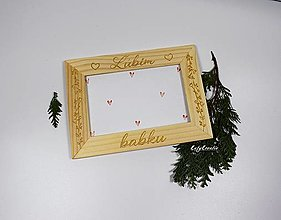 Rámiky - fotorámik Ľúbim babku - 12733859_