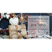 Darčekové poukážky - Vianočný darčekový poukaz - 12733773_