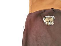 """Detské oblečenie - Flísové nohavice """"medvedík"""" - 12735713_"""