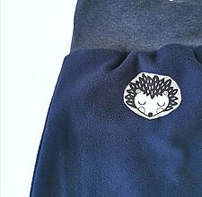 """Detské oblečenie - Flísové nohavice """"ježko"""" - 12735114_"""