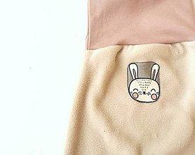 """Detské oblečenie - Flísové nohavice """"zajačik"""" - 12735699_"""