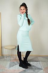 Tepláková úzka sukňa