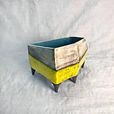 Nádoby - Žltý kvetináč - 12733925_