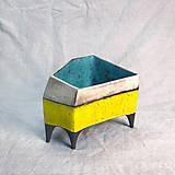 Nádoby - Žltý kvetináč - 12733929_