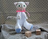 Hračky - Maňuška. Zvieratko Mačka Žofka. - 12735692_