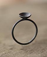 Prstene - Čierny koktejlový zo striebra - 12737127_