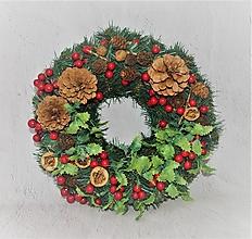 Dekorácie - Vianoce na prírodno - veniec 51 - 12737260_