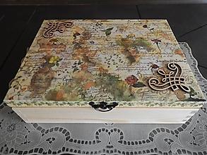 Krabičky - Krabice na čaje,šperkovnice 12 přihrádek vintage - 12736646_