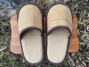Obuv - Veľké béžové papuče  - 12733577_