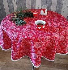 Úžitkový textil - Obrus kruh VIANOČNÝ - 12734510_