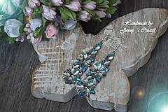 Náušnice - Náušnice Silver and Blue flower - 12737089_