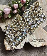 Náušnice - Náušnice Heart Crystal - 12737216_
