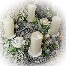 Dekorácie - Adventní věnec - Ledový prosinec - 12736929_