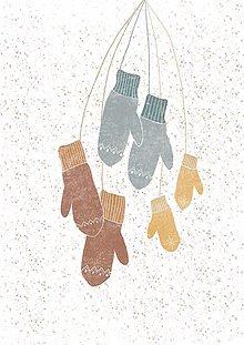 Papiernictvo - Pohľadnica Happy winter - 12734056_