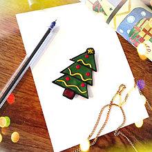 Magnetky - ★ Vianočná magnetka cartoon - vianočný stromček - 12735345_