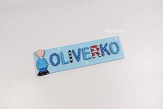 Detské doplnky - menovka pre Oliverka - 12739517_
