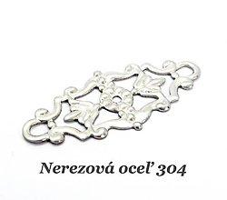 Komponenty - Filigránový medzikus /M7063/ - nerezová oceľ 304 - 12738872_
