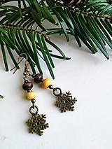 Náušnice - Vianočné vintage náušnice - 12741126_