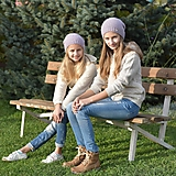 Detské čiapky - Fialkové čiapky z baby alpaky - 12741104_