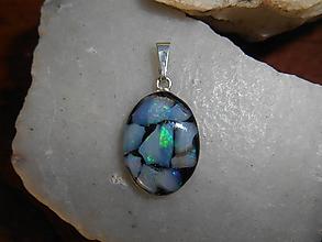 Náhrdelníky - opals-in oval-silver-striebro Ag925 - 12741915_