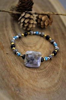 Náramky - náramok z minerálov (achát,jaspis,tyrkenit,hematit,ónyx) - 12738161_