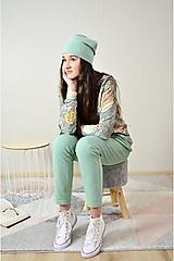 Čiapky - Dámska zelená čiapka - 12737815_