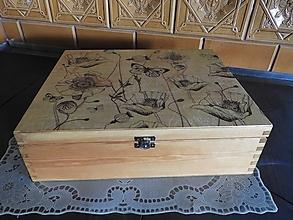 Krabičky - Krabice, šperkovnice velká s máky - 12741300_
