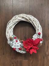 Dekorácie - Vianočný zimný veniec na dvere - 12738244_