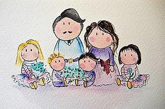 Grafika - šťastná rodina - 12741588_