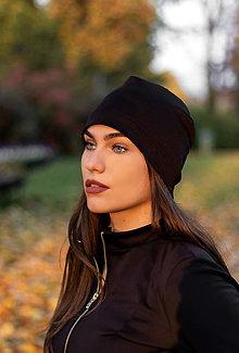 Čiapky - Termo čiapka BLACK - 12741668_