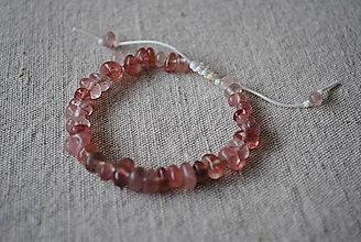 Náramky - Náramok s jahodovým quartzom ružový - 12740826_