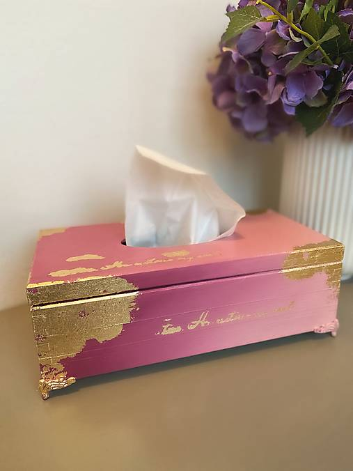 Drevená krabička na servítky