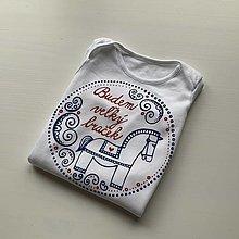 """Detské oblečenie - Maľovné ľudovoladené s nápisom """"BUDEM VEĽKÝ BRAT"""" (""""Braček"""" - Body veľkosti 56-86 dlhý rukáv) - 12739207_"""