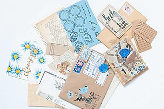 "Papier - Ephemera Vintage "" blue "" - 12741875_"