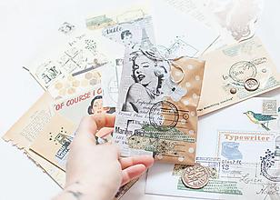 """Papier - Ephemera Vintage """"retro """" - 12741956_"""