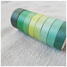 Papier - Washi pásky (SET 8 ks) (Les) - 12740091_