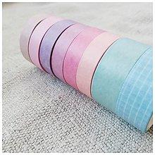 Papier - Washi pásky (SET 8 ks) (Dúha) - 12740116_