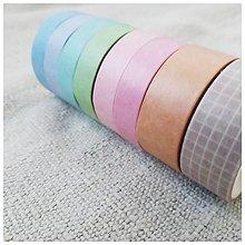 Papier - Washi pásky (SET 8 ks) (Šampanské) - 12740122_