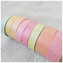 Papier - Washi pásky (SET 8 ks) (Východ slnka) - 12740137_
