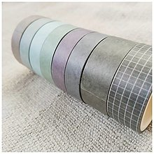 Papier - Washi pásky (SET 8 ks) (Hory) - 12740158_