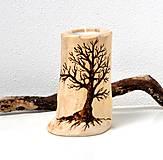 Svietidlá a sviečky - Drevený svietnik-Starý strom - 12738222_