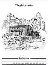 Dekorácie - Kalendár Chaty Vysokých Tatier 2021 - 12738266_