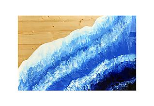 Obrazy - Obraz z masívneho dreva more - 12738850_