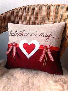 Úžitkový textil - vankúšik - babička si naj... - 12745178_