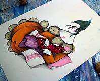 Kresby - Na Lumurmu maminky II./ originál kresba - 12744905_